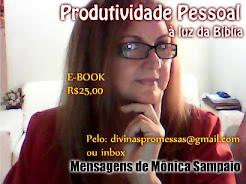 Livro E-BOOK PRODUTIVIDADE PESSOAL à luz da BÍBLIA- de Mônica Sampaio