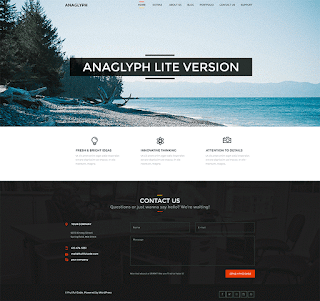 wordpress professional themes : Anaglyph Lite Theme