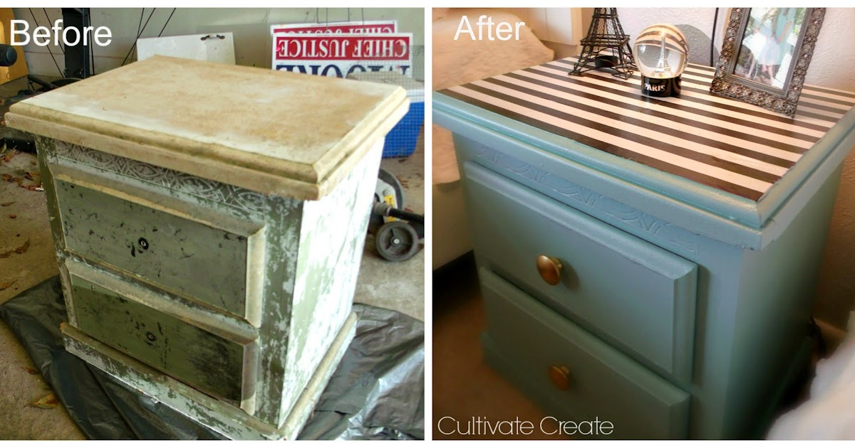 cultivate create nightstand makeover