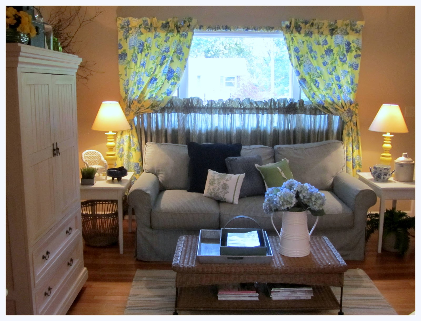 the corson cottage quaint country cottage living room update at