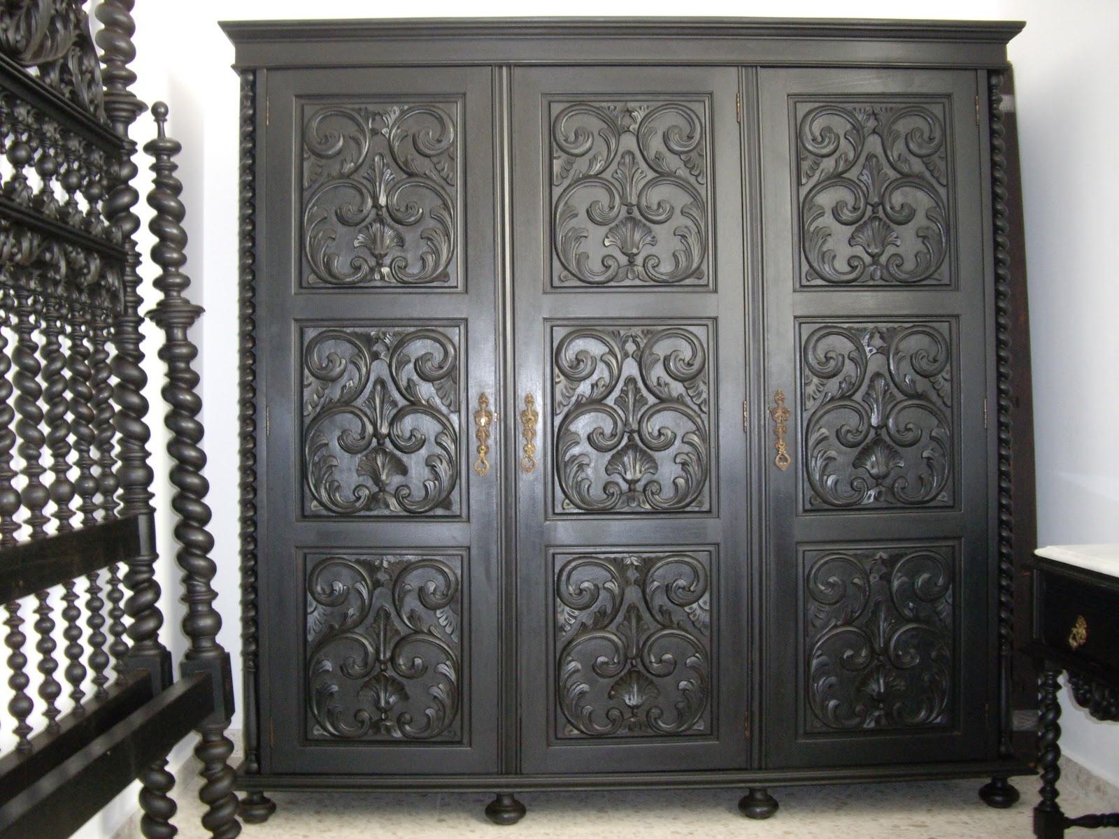 Antiguedades dormitorio de caoba negra - Muebles antiguos sevilla ...