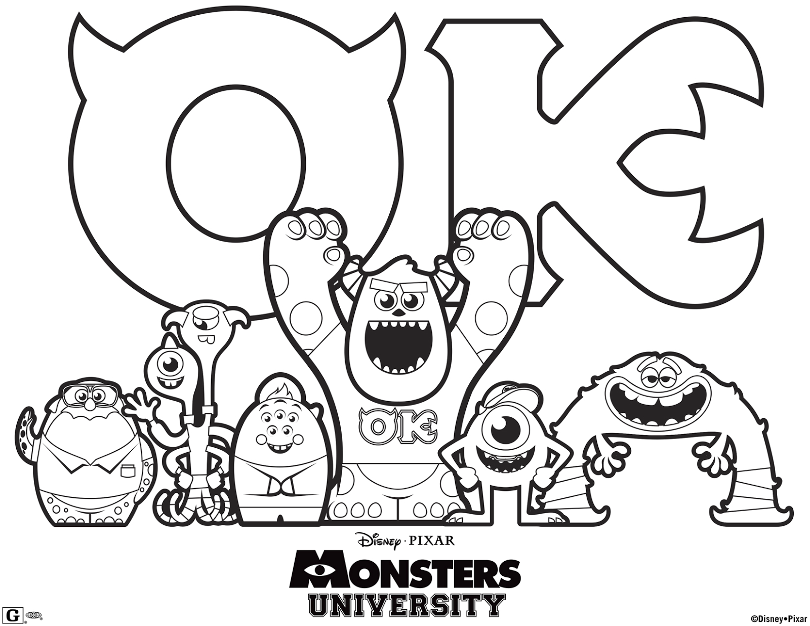 LAMINAS PARA COLOREAR - COLORING PAGES: Monster University para ...
