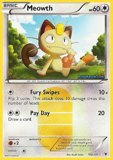 Meowth Pokemon Card Noble Victories Set