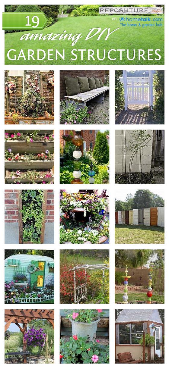Reposhture studio 19 incredible diy garden structures for Diy garden studio