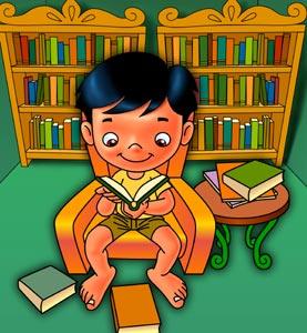 Adek pandai membaca