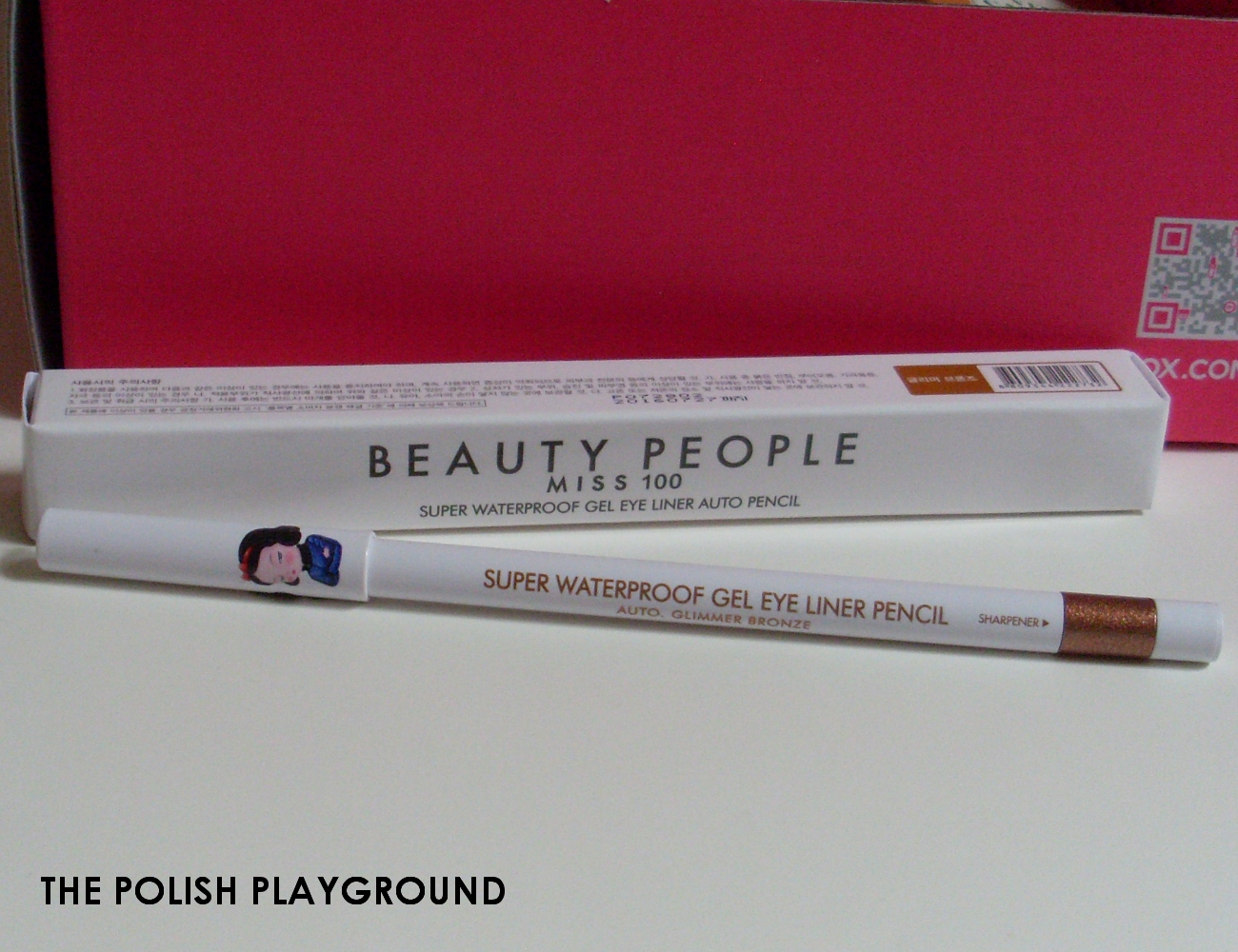 Memebox Global #14 Unboxing - Beauty People Miss 100 Super Waterproof Gel Liner Auto Pencil in Glimmer Bronze