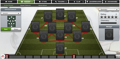 FUT 13 Formations - 3-4-2-1 - FIFA 13 Ultimate Team