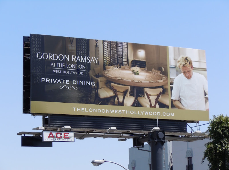 Gordon Ramsey Private Dining billboard