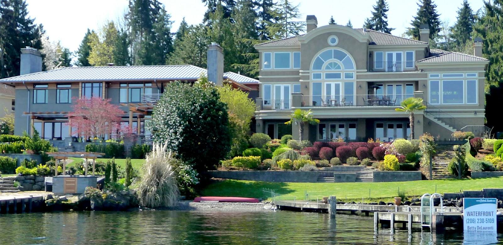 Mercer island luxury waterfront estate idesignarch interior design - Seattle Mansions Multimillion Mercer Island Homes Discounted