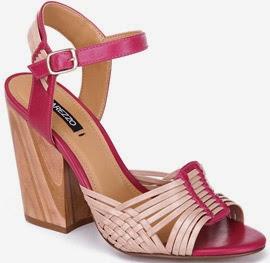 Sandálias de couro Arezzo verão