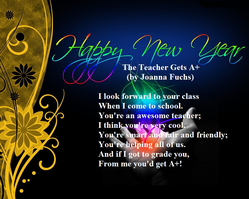 teacher new year cards