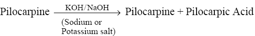 Cessation of Lactone-Ring: salts with the formation of pilocarpic acid