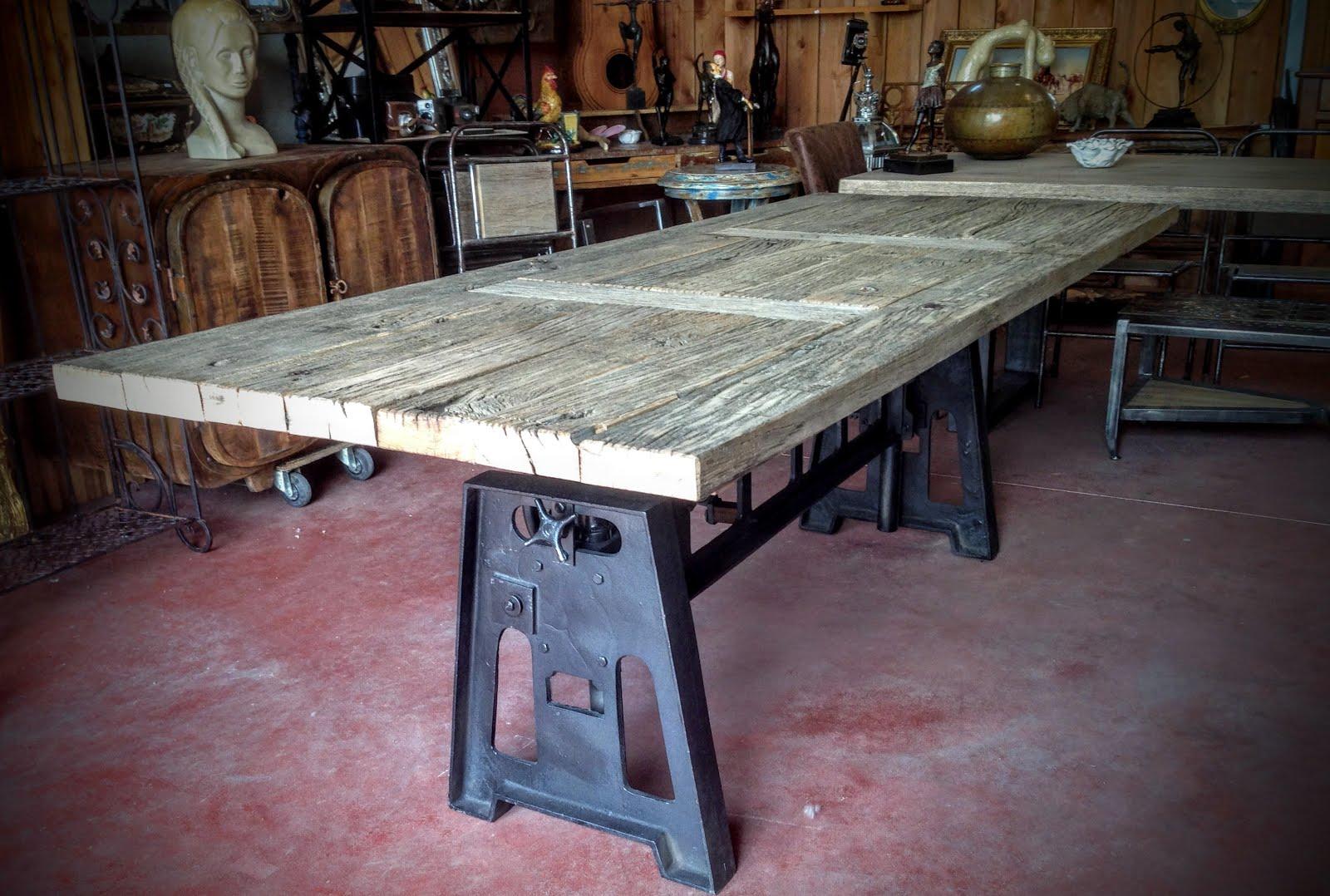 Vitadeco table bois m tal design industriel for Table industrielle design