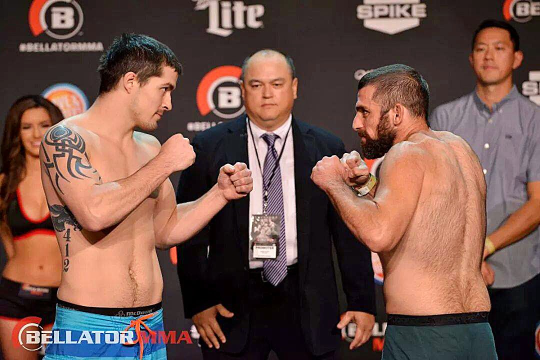 MMA Staredown with Bubba Pugh and Andy Murad at Bellator 131 weigh ins