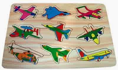 Mainan Anak Puzzle Kayu Pesawat