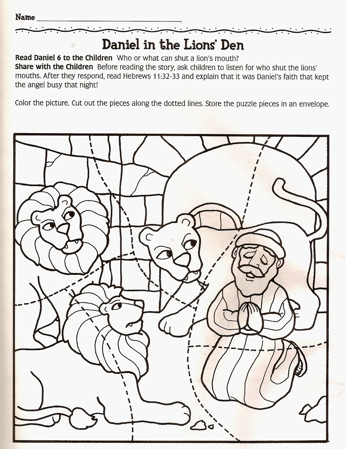Daniel And The Lion Maze Worksheets Pictures To Pin On