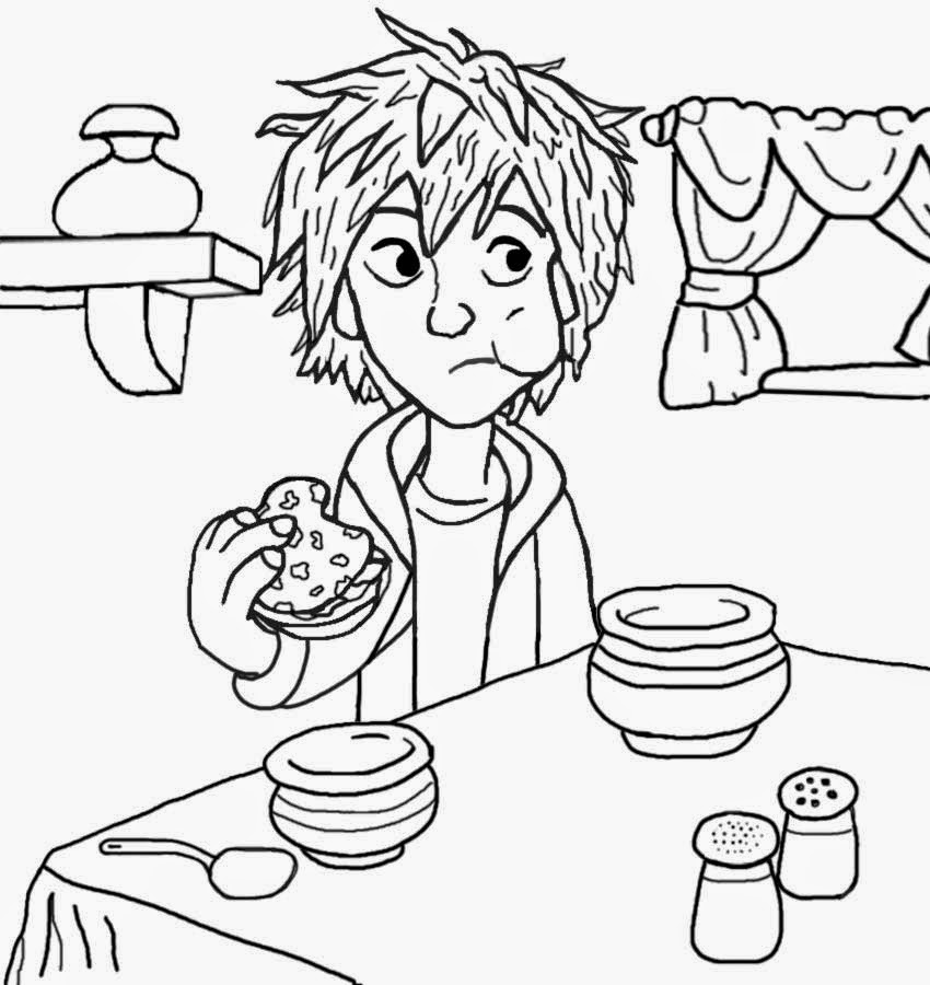 Fun Cool Superhero Picture Disney Free Colouring Printable Big Hero 6 Drawing Eating Food And Drink