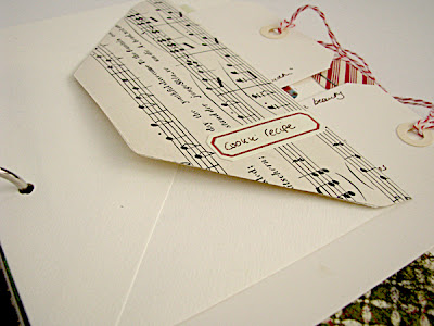 holiday scrapbook with vintage sheet music