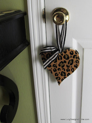 hand made heart shape door knob hanger