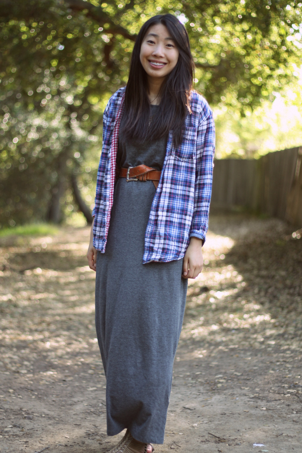 casual maxidress outfit school