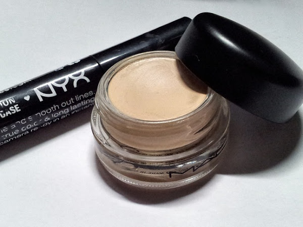 MAC Paint Pot  срещу NYX HD Eyeshadow base