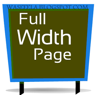 Create a Full Width Page & Remove Sidebar in Blogger