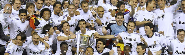 Real Madrid is the Champion of Spain Cup 2011