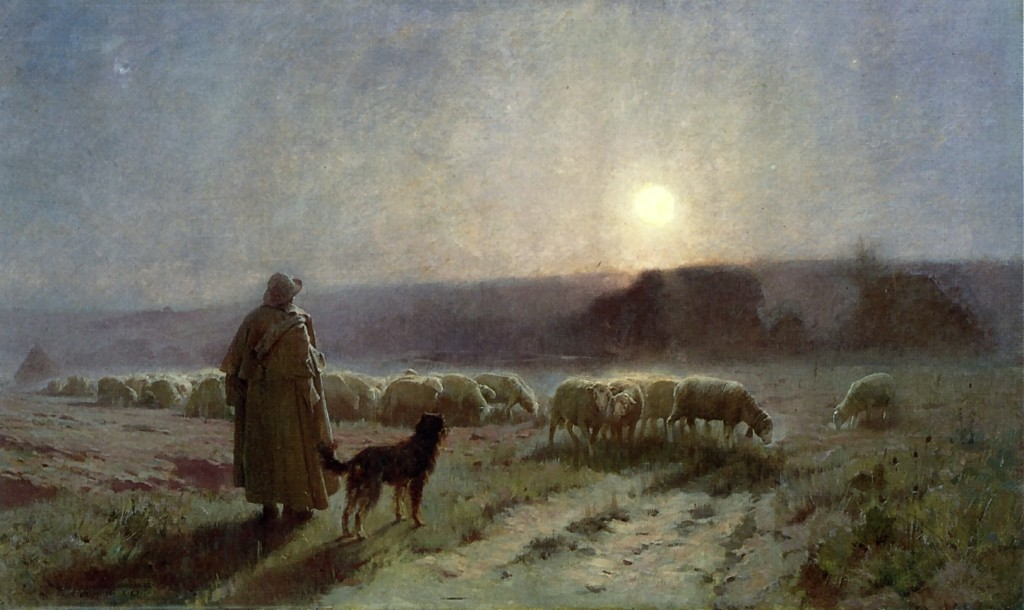 Charles  Sprague  Pearce  evening  auvers  sur  oise