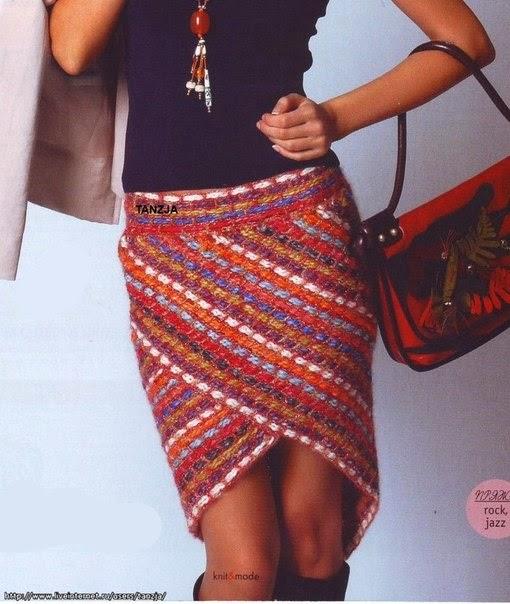Эффектная юбка в полоску