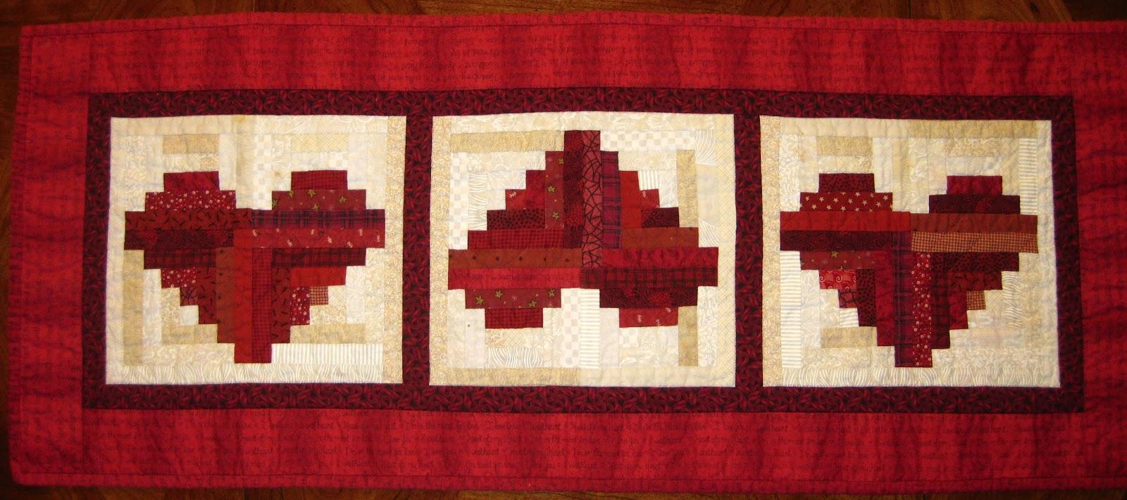 Log Cabin Heart Quilt Block Pattern : Favorite Quilting Tips and Recipes!: Log Cabin Heart Quilt Pattern