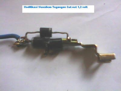 Model Modifikasi Tambah tegangan kiprok 1,2 volt