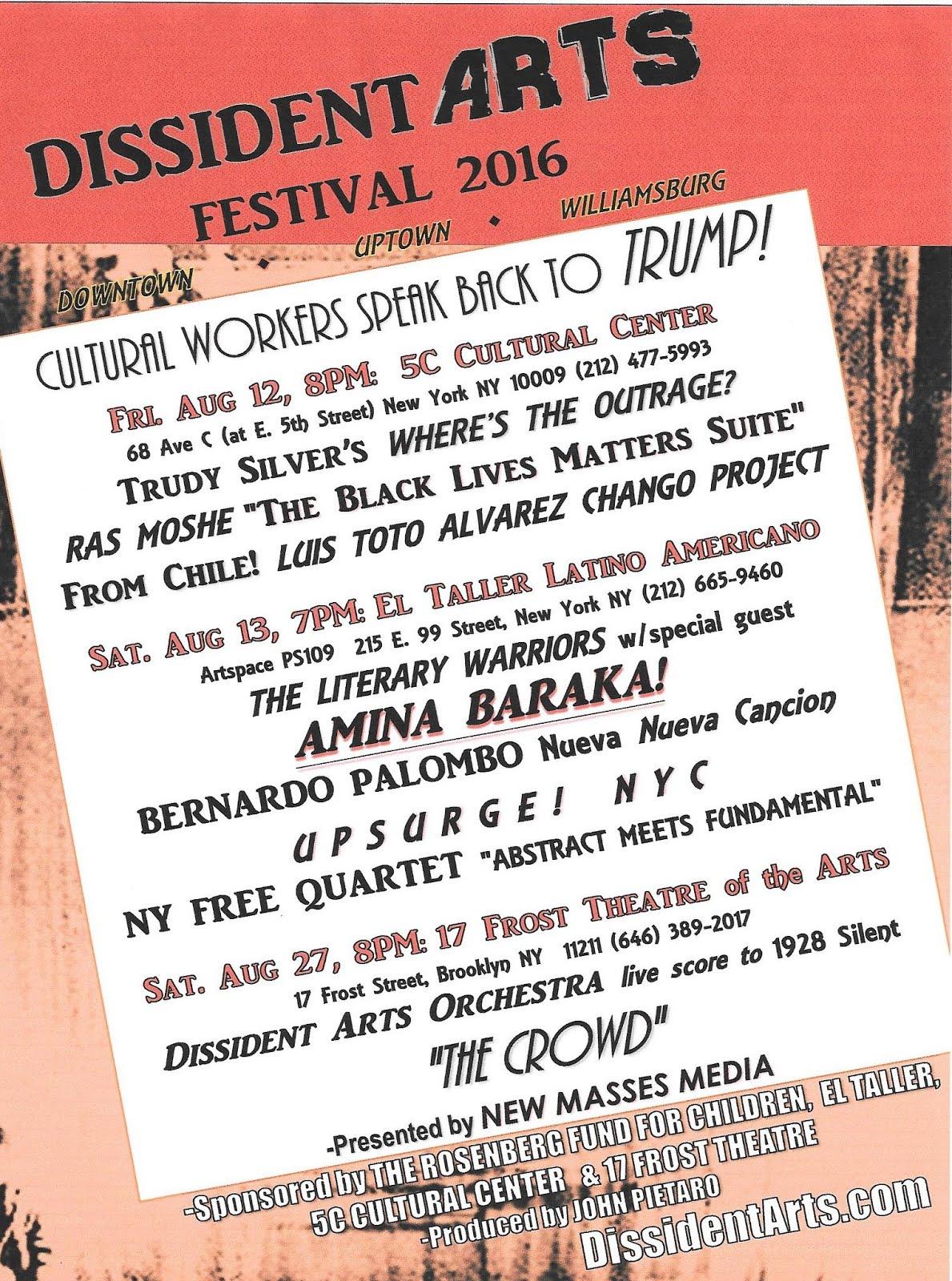 DISSIDENT ARTS FESTIVAL 2016
