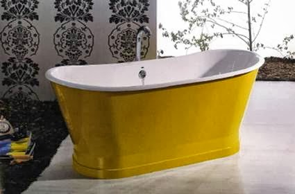 Colored freestanding bathtubs my little sweet house for Coloured free standing bath