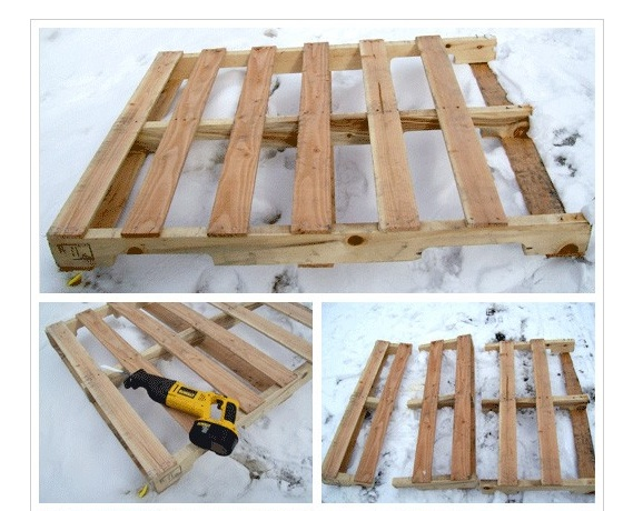Idea Wood Pallet Shelf