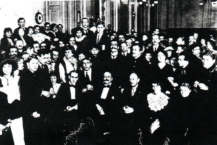 O Futurista italiano F. T. Marinetti visitou a Rússia, a convite de Nicolay Kulbin (jan.-fev. 1914)