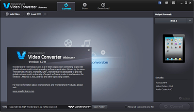 Wondershare Video Converter Ultimate v6.7.0.10