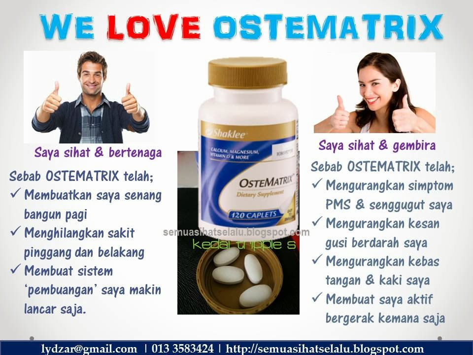 Manfaat Ostematrix kepada lelaki dan wanita