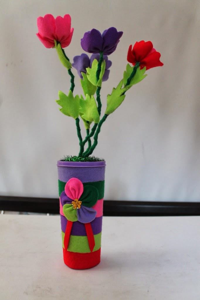 Vas Bunga Dari Kain Flanel Galeri Seni
