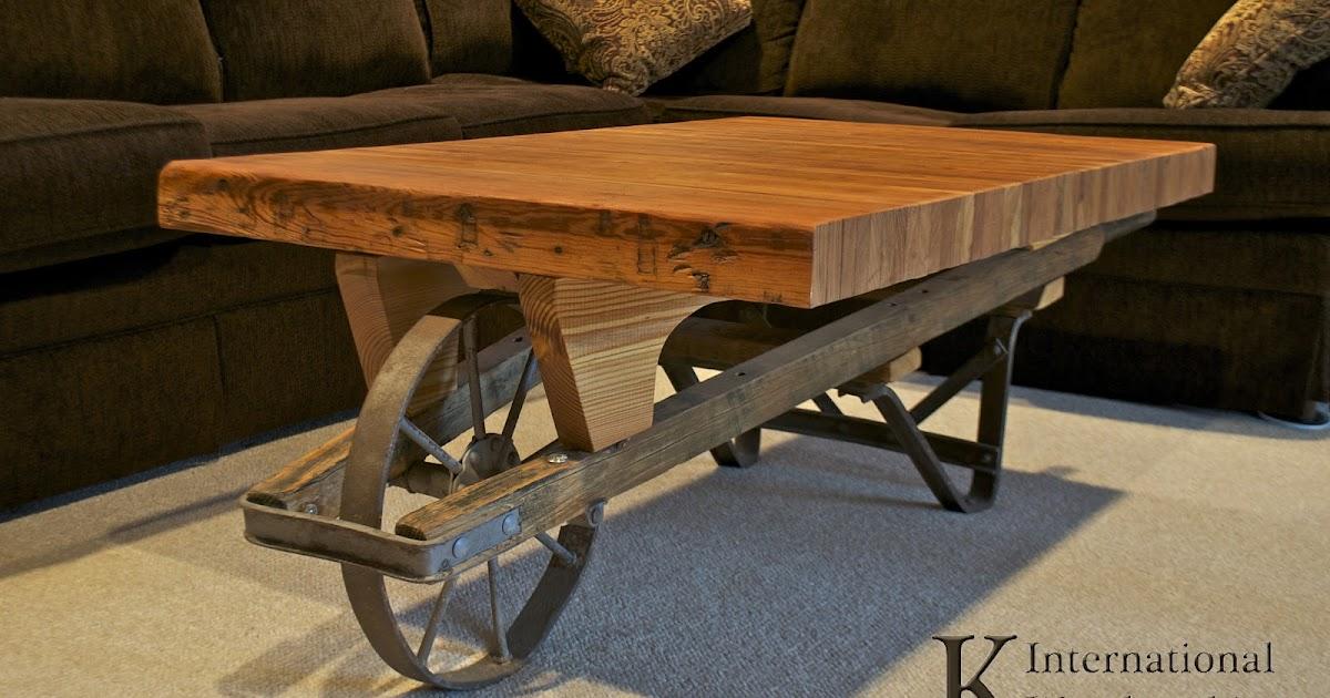 K International Woodworking: Wheelbarrow Coffee Table