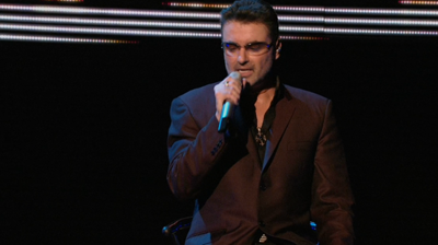 George Michael singing close-up. London, 2008.
