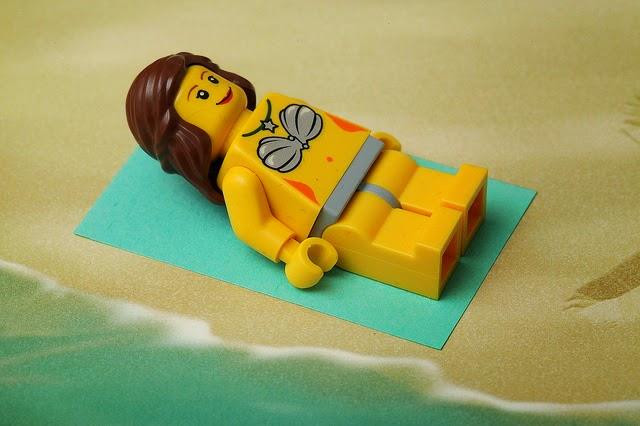 Sunbathing Lego Lady