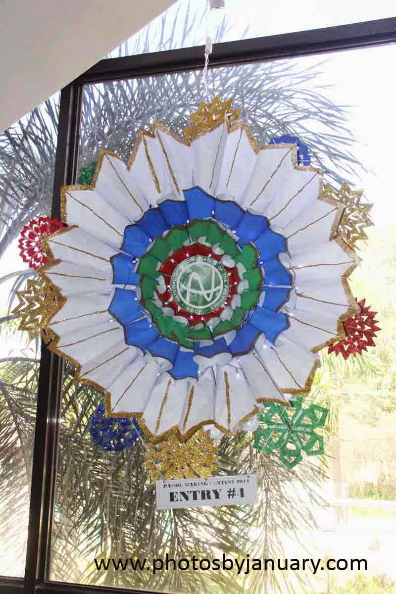 Christmas lantern made from recycled materials contest for Recycled paper lantern