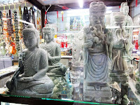 Jade shop with Buddha sculptures