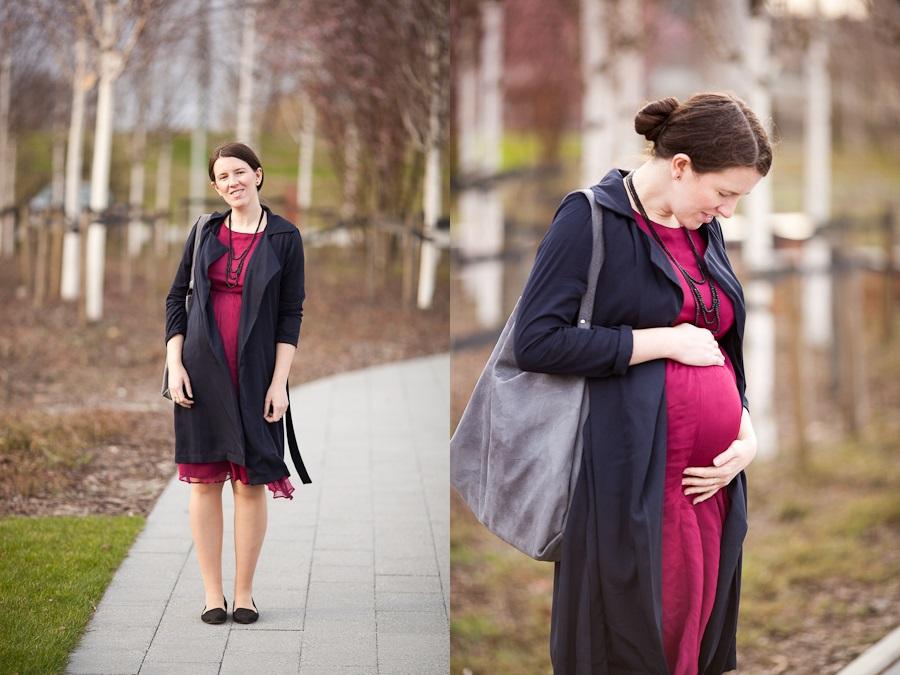 sukienka moda ciążowa płaszcz stradivarius baletki reserved torba katta