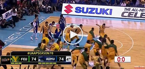Mac Belo's AMAZING Game-Winning Buzzer Beater vs Ateneo (VIDEO) UAAP Final Four