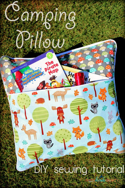 Camping Pillow Tutorial | Ann Kelle Fabrics - Shes {kinda} Crafty