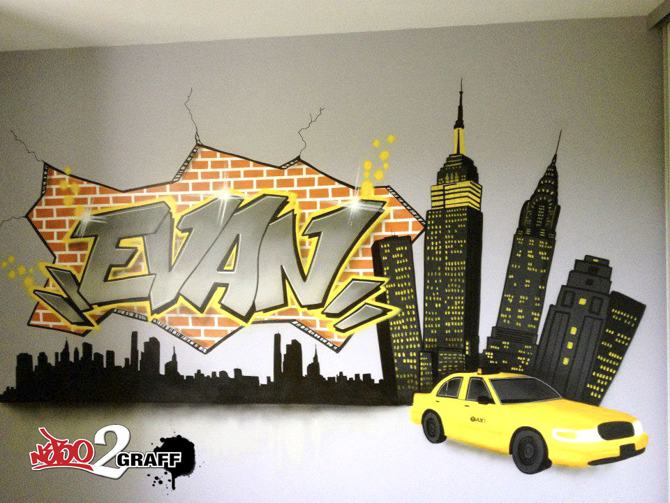 D coration graff int rieur d co ext rieur d co chambre d Decoration new york chambre