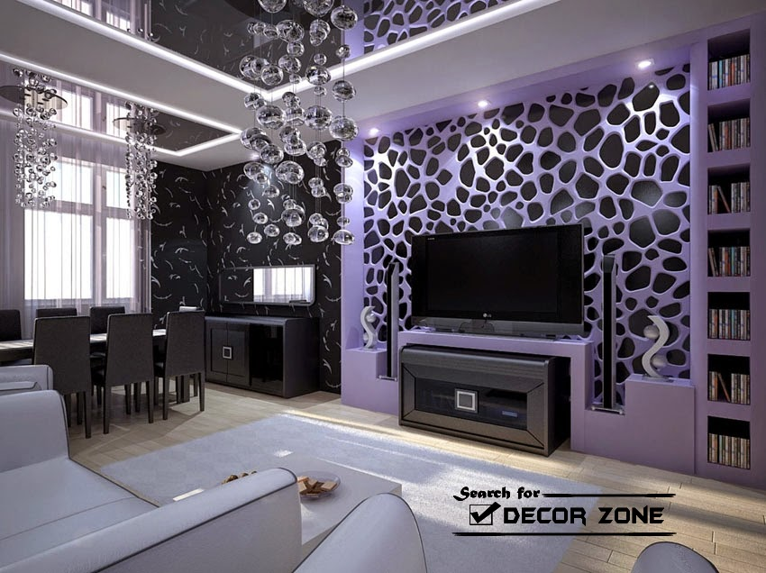 Charming Creative Wallpaper Designs In Dark Interior
