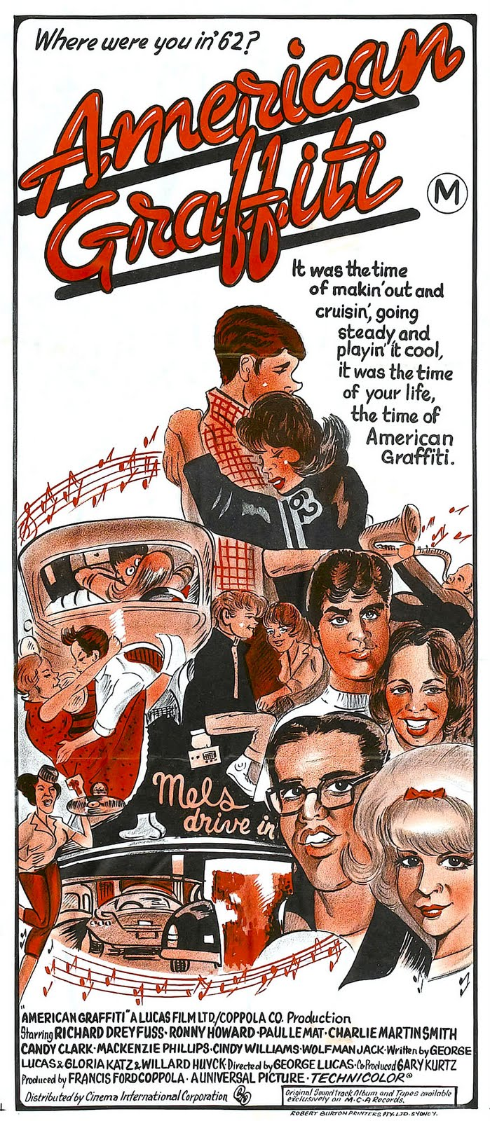 MOVIE POSTERS: AMERICAN GRAFFITI (1973)
