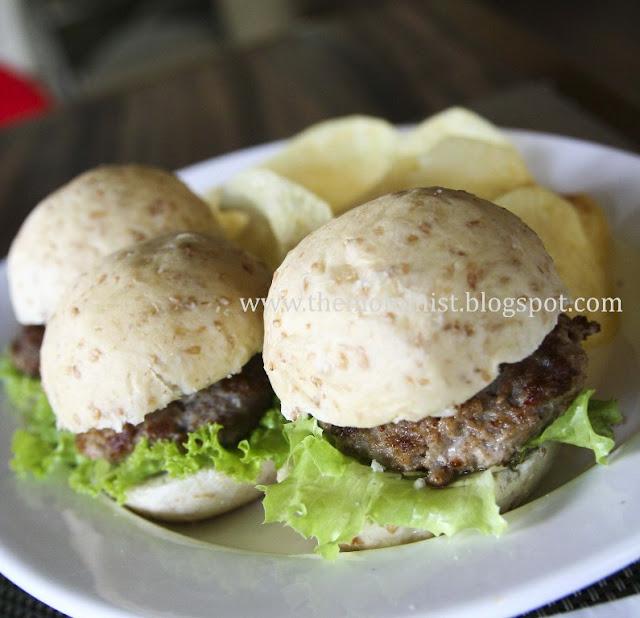 Mini blue cheese burgers